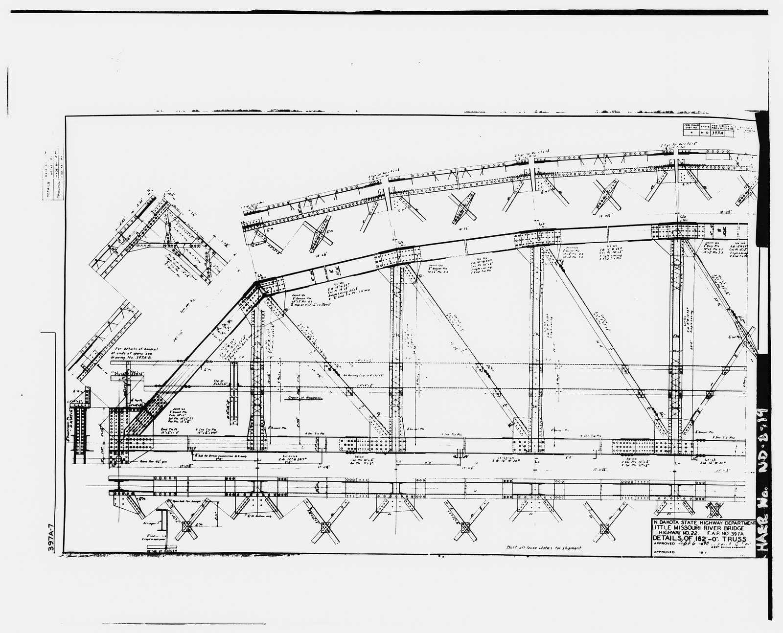 Lost Bridge, Spanning Little Missouri River, twenty-three miles north of Killdeer, ND, on State Highway No. 22, Killdeer, Dunn County, ND